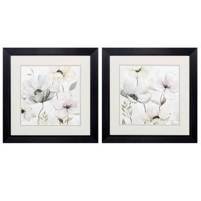"""GARDEN GRAYS DETAIL S/2"" Framed Wall Art Nature 19 in. x 19 in."