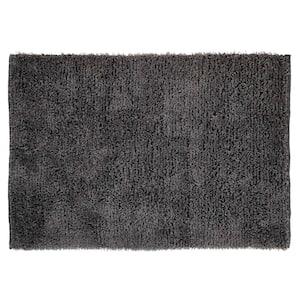 Microfiber Shag Grey 7 ft. x 9 ft. Area Rug