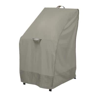 Weekend 26 in. Moon Rock Stackable Outdoor Chair Cover with Integrated Duck Dome