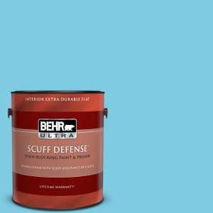 Behr Ultra 1 Gal P490 3 Big Chill Extra Durable Flat Interior Paint Primer 172001 The Home Depot