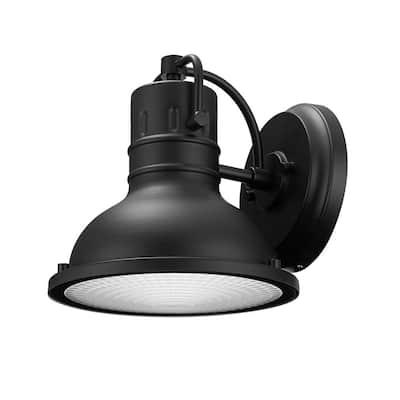 Harbor 1-Light Black Outdoor Wall Lantern Sconce