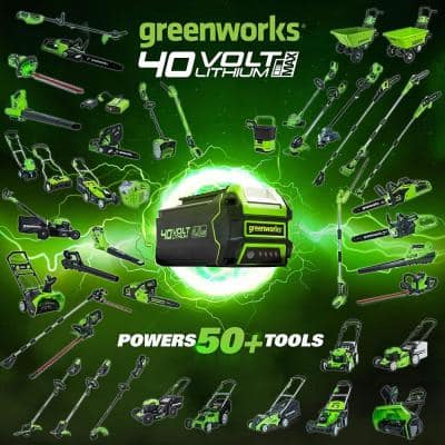 14 in. 40-Volt Battery Cordless Dethatcher with 4.0 Ah Battery and Charger