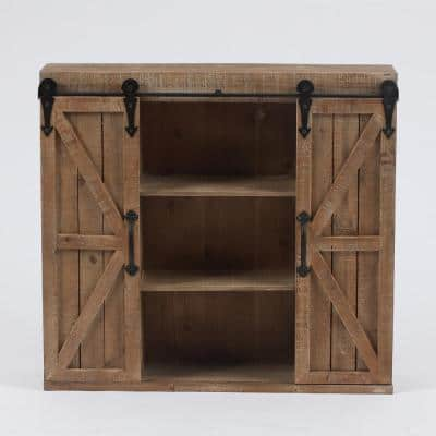 Wood Farmhouse Storage Wall Cabinet