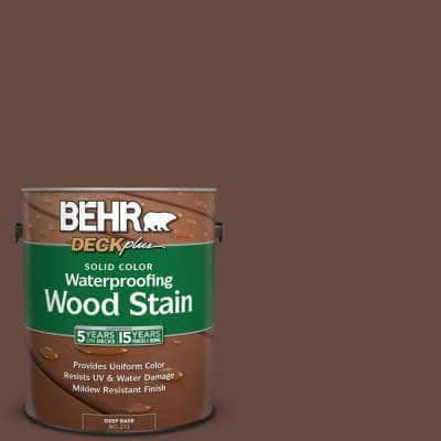 1 Gal. #SC-117 Russet Solid Color Waterproofing Exterior Wood Stain