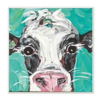 """12 in. x 12 in. """"Oreo The Cow"""" by Molly Susan Strong Printed Wood Wall Art"""