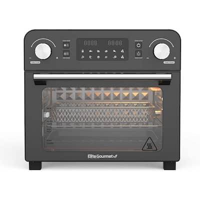 Elite Gourmet 23L Digital Air Fryer Oven Black