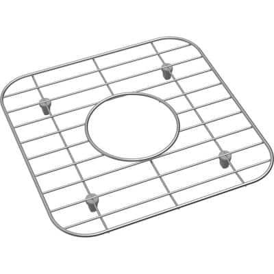 Dayton 11.0625 in. x 11.0625 in. Bottom Grid for Kitchen Sink in Stainless Steel