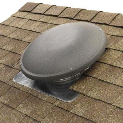 1500 CFM Shingle Match Weathered Wood Power Roof Mount Attic Fan with Humidistat/Thermostat