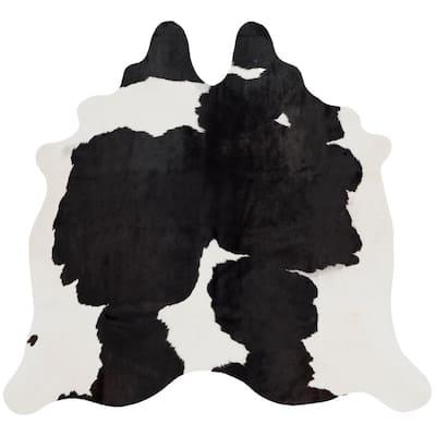 Cow Hide Black/White 4 ft. x 6 ft. Area Rug