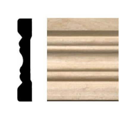 3/8 in. x 2-1/4 in. x 7 ft. Hardwood Fluted Casing/Chair Rail Moulding