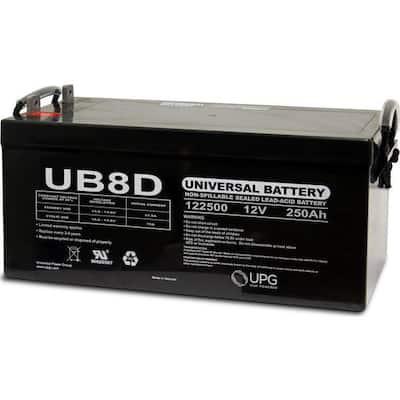 12-Volt 250 Ah L4 Terminal Sealed Lead Acid (SLA) AGM Rechargeable Battery