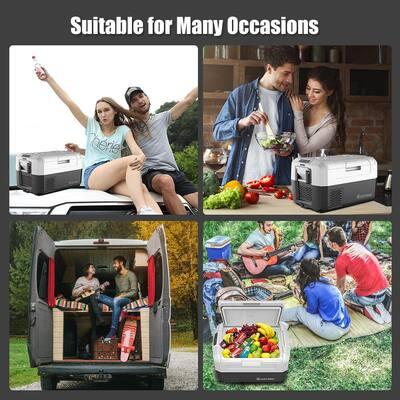 37 Quart Portable Electric Car Chest Cooler Refrigerator Compressor Freezer Camping