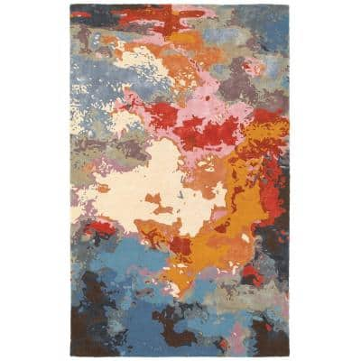 Gillespie Multi/Pink 5 ft. x 8 ft. Abstract Area Rug