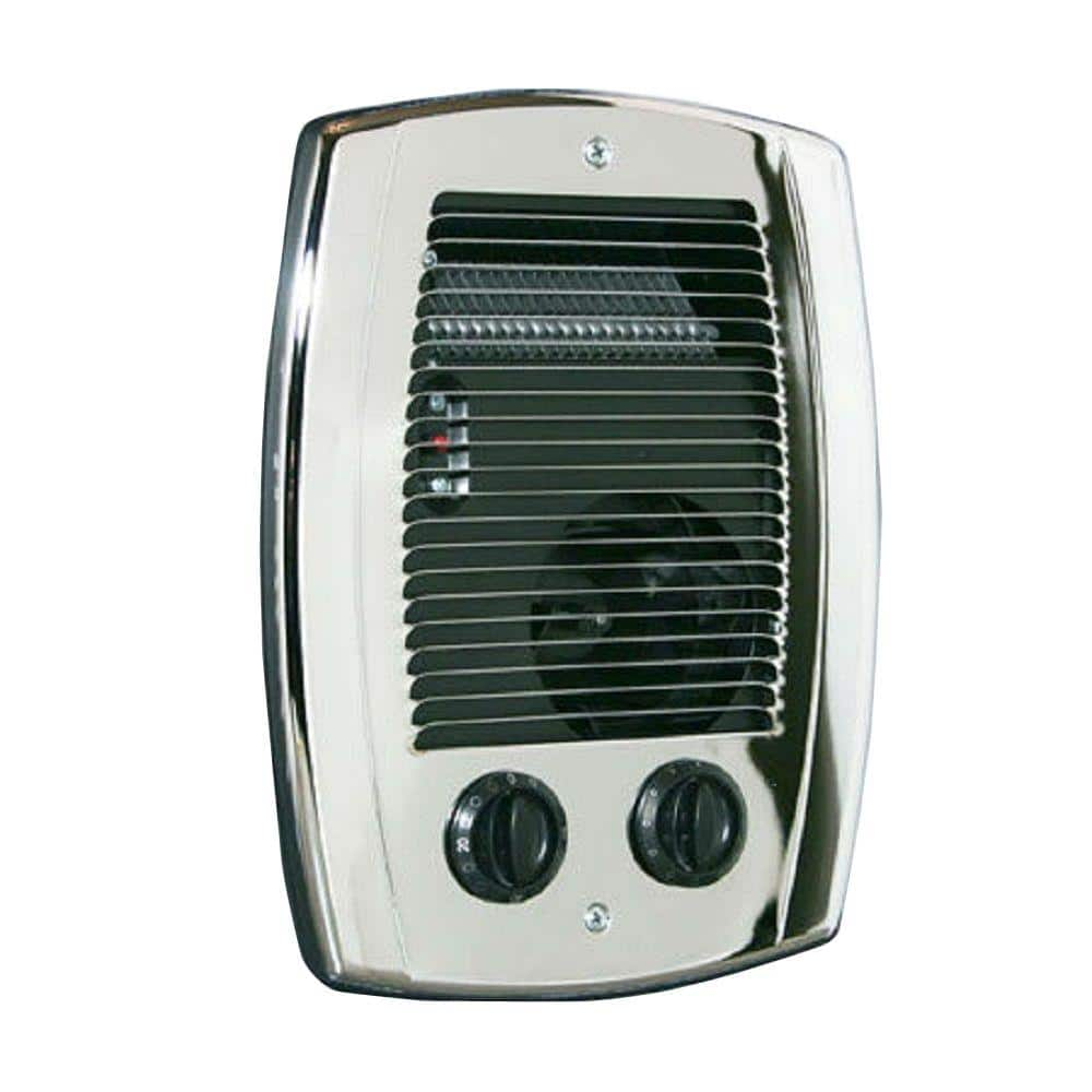 Cadet Com Pak 1 000 Watt In Wall Fan Forced Bathroom Heater In Chrome Cbc103tch The Home Depot