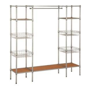 Gray Steel Clothes Rack