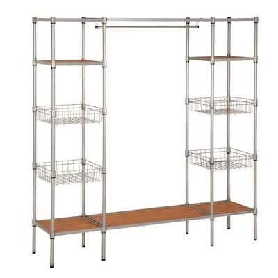16.25 in. D x 67.5 in. W x 68 in. H Freestanding Steel Closet System Organizer