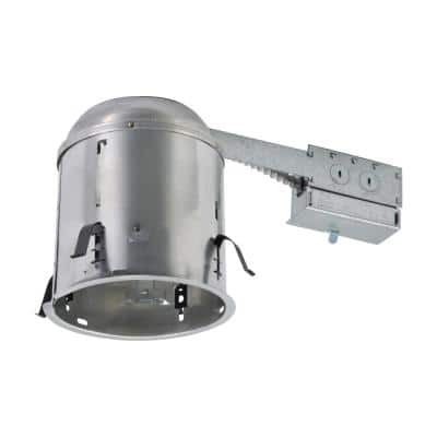 H7 6 in. Aluminum Recessed Lighting Housing for Remodel Ceiling, Insulation Contact