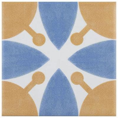 Revival Leaf Mini 4 in. x 4 in. Ceramic Floor and Wall Tile (3.29 sq. ft./Case)
