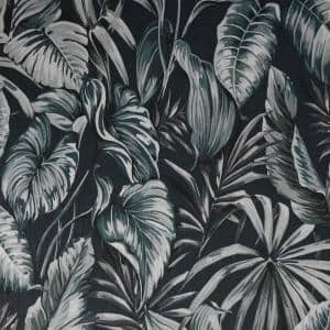 Leaves Exotique Dark Green Vinyl Strippable Roll (Covers 56 sq. ft.)