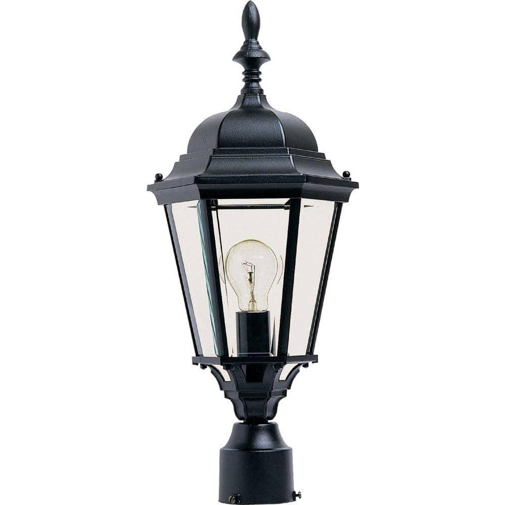 Maxim Lighting Westlake 1 Light Black Outdoor Pole Post Mount 1005bk The Home Depot