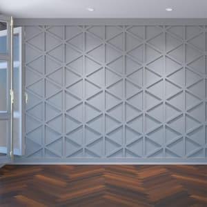 3/8'' x 15-1/2'' x 23-3/8'' Pendleton Decorative Fretwork Wall Panels in Architectural Grade PVC