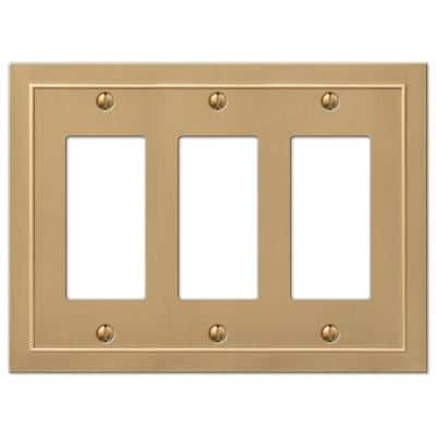 Bethany 3 Gang Rocker Metal Wall Plate - Brushed Bronze