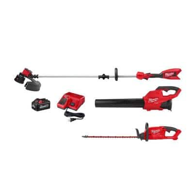 M18 18 Volt Lithium Ion Brushless Cordless String Trimmer, M18 FUEL Blower and M18 FUEL Hedge Trimmer 6.0Ah Kit 3 Tool