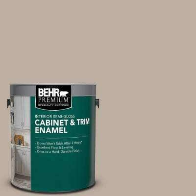 1 gal. #PPU18-13 Perfect Taupe Semi-Gloss Enamel Interior Cabinet and Trim Paint
