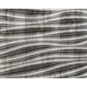 18.5'' x 24.3'' Wilderness Decorative 3D PVC Backsplash Panels in Crosshatch Silver 6-Pieces