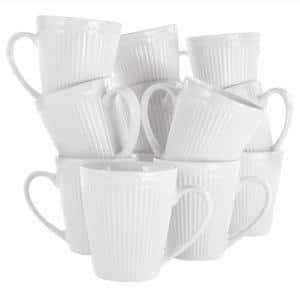 8 oz. Madeline White Porcelain Mug (Set of 12)