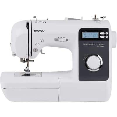 Strong and Tough 80-Stitch Portable Computerized Sewing Machine with Metal Interior Frame