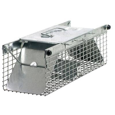 Small 2-Door Professional Live Animal Cage Trap for Rat, Squirrel, Chipmunk, and Weasel