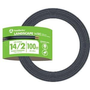 100 ft. 14/2 Black Stranded CU Low-Voltage Landscape Lighting Wire