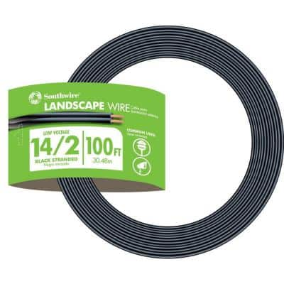 100 ft. 14/2 Black Stranded CU Low-Voltage Landscape Lighting Wire