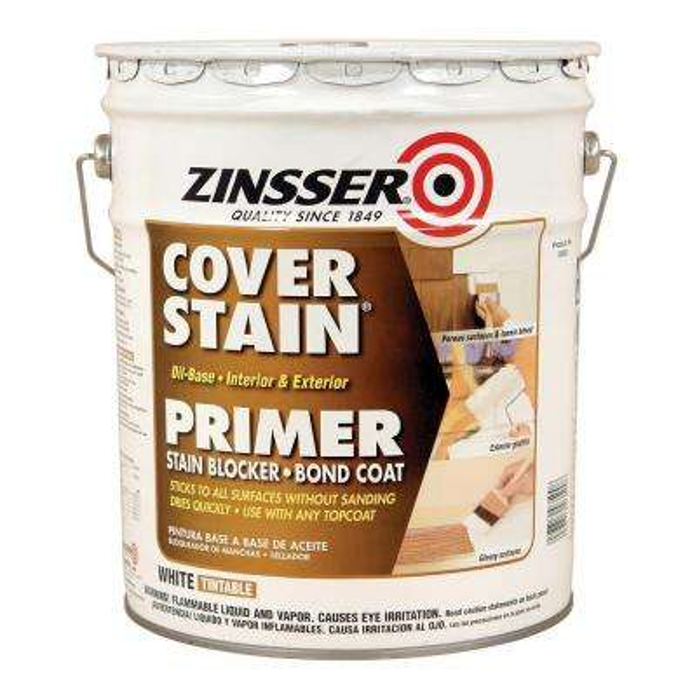 Cover Stain 5 gal. White Oil-Based Interior/Exterior Primer and Sealer
