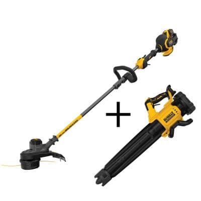 15 in. 60V MAX Cordless FLEXVOLT Brushless String Grass Trimmer with Bonus Bare Cordless Handheld Blower Included