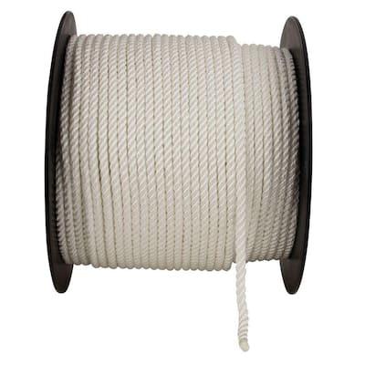 3/8 in. x 500 ft. Nylon Twist Rope in White