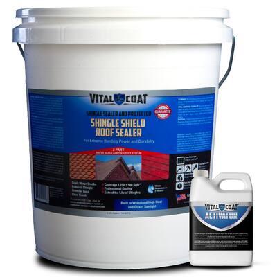 5 Gal. Clear Matt 100% Acrylic Shingle Shield Roof Coating for Asphalt Fiberglass and Clay Shingles
