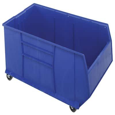 Quantum Rackbin Mobile 42 in. 70-Gal. Storage Tote in Blue (1-Pack)