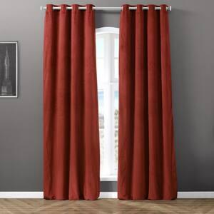 Java Velvet Grommet Blackout Curtain - 50 in. W x 120 in. L