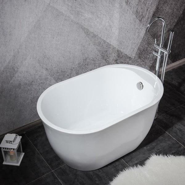 Topcraft 47 In Round Acrylic Soaking, Round Soaking Tubs