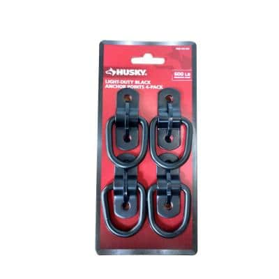 1-1 2 in. Steel Wire Ring Anchor Point in Black (4-Pack)