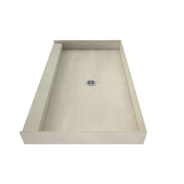 Tile Redi Redi Base 34 In X 48 In Single Threshold Shower Base With Center Drain And Polished Chrome Drain Plate 3448c Pvc The Home Depot