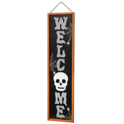 37 in. Halloween WELCOME Wall