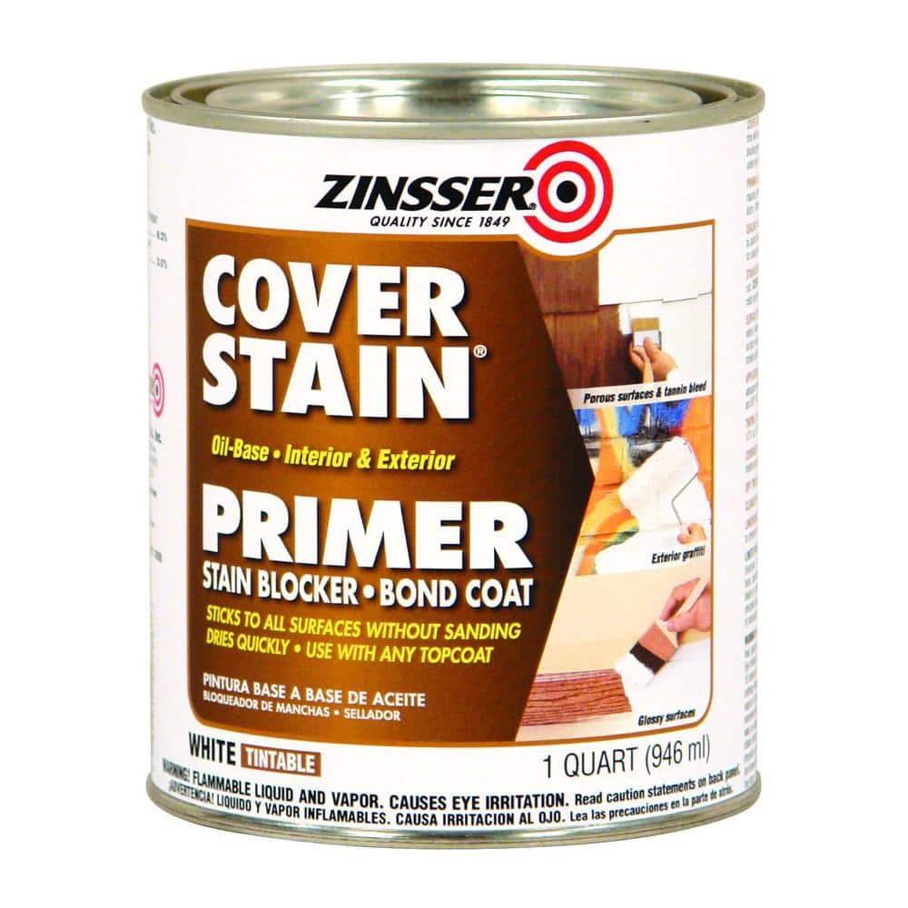 Zinsser Cover Stain 1 qt. White Oil-Based Interior/Exterior Primer and Sealer