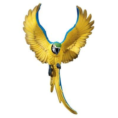 16 in. H Phineas the Flapping Macaw Bird Wall Sculpture