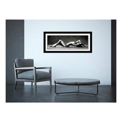 """43 in. H x 19 in. W """"Nude Reclining"""" by Scott Mc Climont Framed Art Print"""