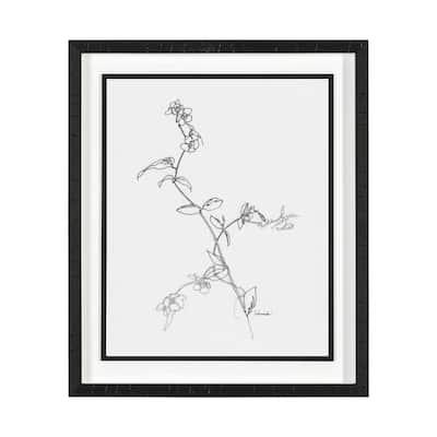 Arrangement V Framed Floral Nature Art Print 25.5 in. H x 21.5 in. W