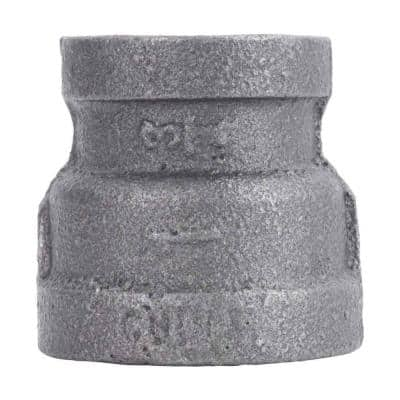 1 in. x 3/4 in. Black Malleable Iron FPT x FPT Reducing Coupling