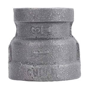1 in. x 3/4 in. Black Malleable Iron Reducing Coupling